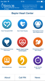 Image of Baylor Heart Center iPhone app